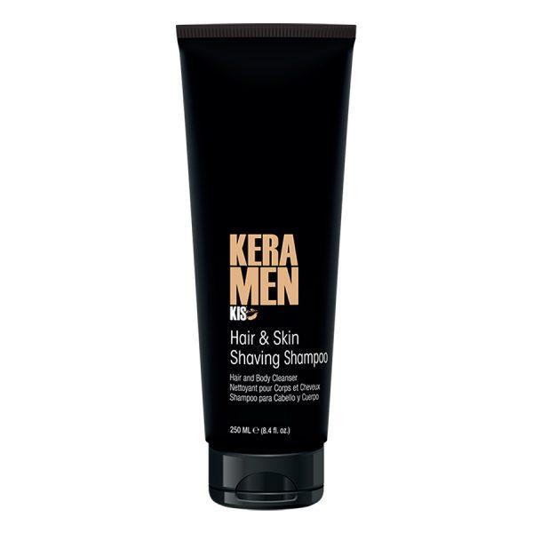 Мужской кератиновый шампунь-кондиционер-гель для душа и бритья KIS KeraMen Hair & Skin Shaving Shampoo